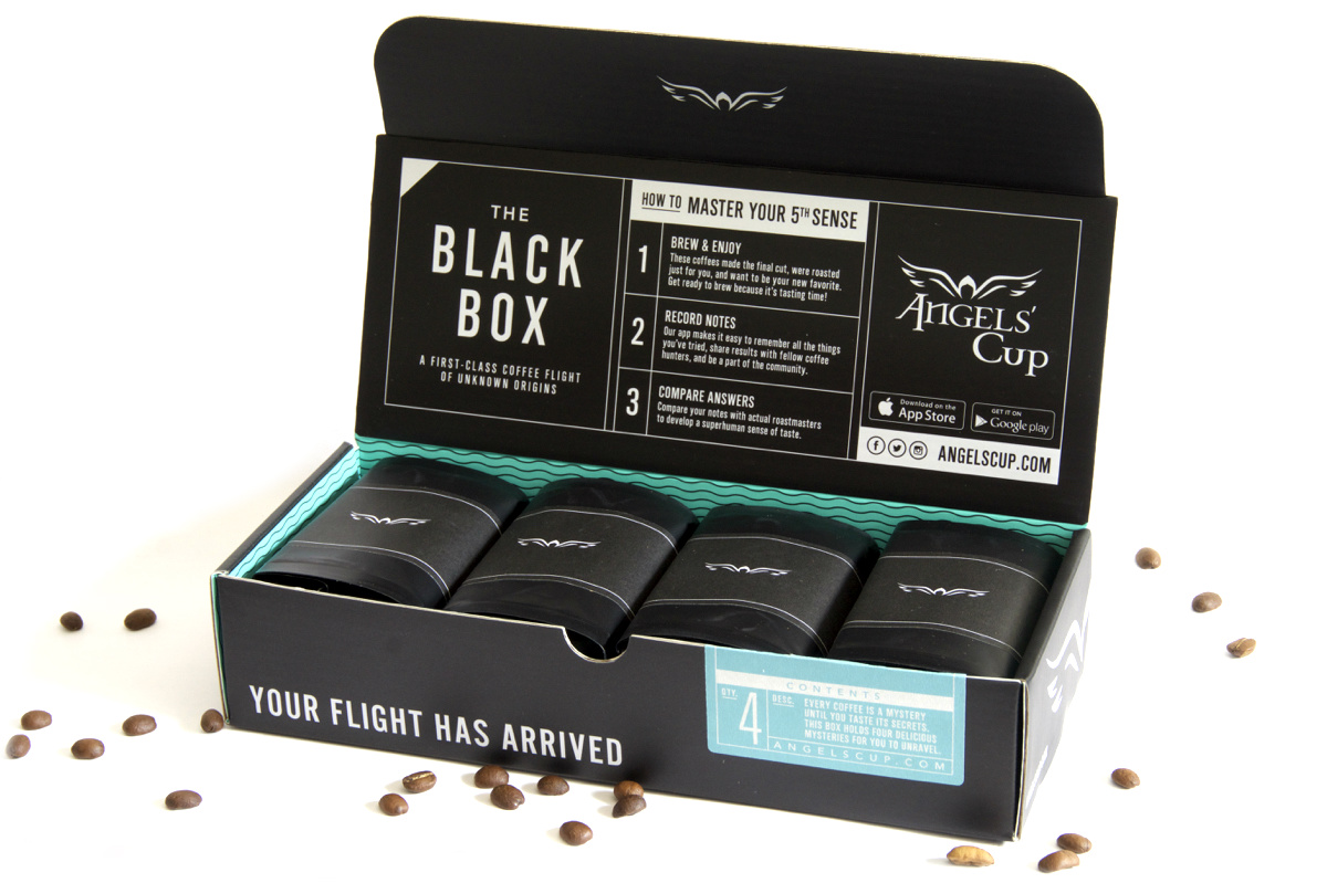 Angels cup coffee app black box tilt